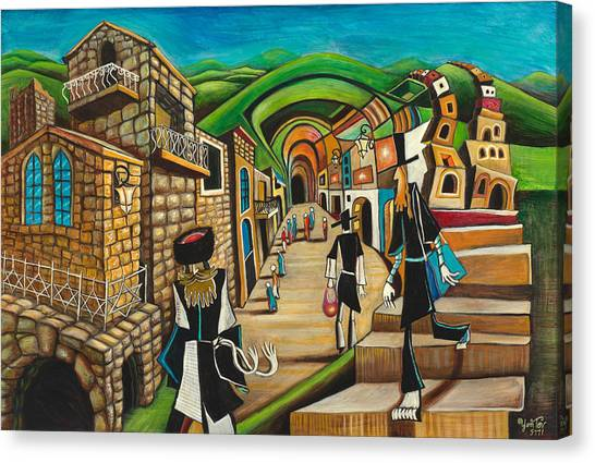 Tzfat The Way I See It Canvas Print