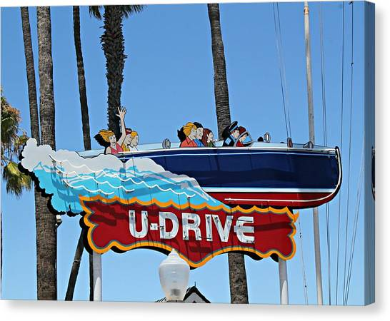 U-drive Boat Sign Canvas Print