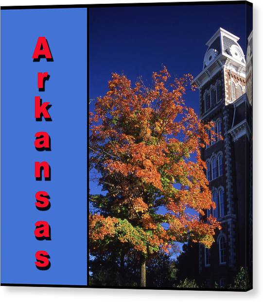 U Of A Old Main Canvas Print