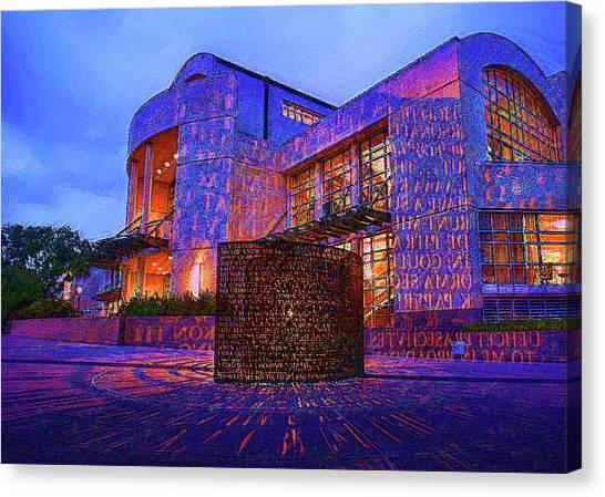 University Of Houston Canvas Print - U Of H Colors  by DJ Fessenden