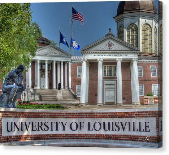 University Of Louisville Canvas Print - U Of L School Of Law by Gina Munger