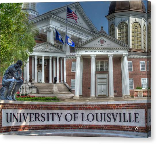 University Of Louisville Canvas Print - U Of L School Of Law II by Gina Munger
