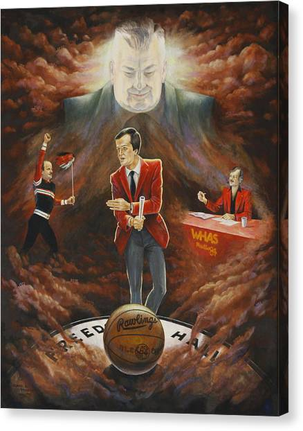 University Of Louisville Canvas Print - U Of L Tradition by Duane R Probus