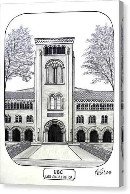 U S C Canvas Print by Frederic Kohli