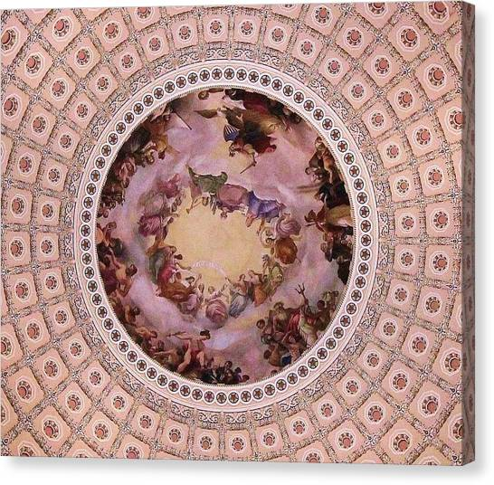 U S Capitol Dome Mural # 3 Canvas Print