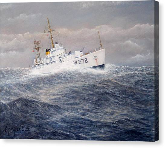 U. S. Coast Guard Cutter Halfmoon Canvas Print by William H RaVell III