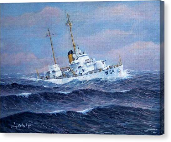 U. S. Coast Guard Cutter Owasco Canvas Print by William H RaVell III