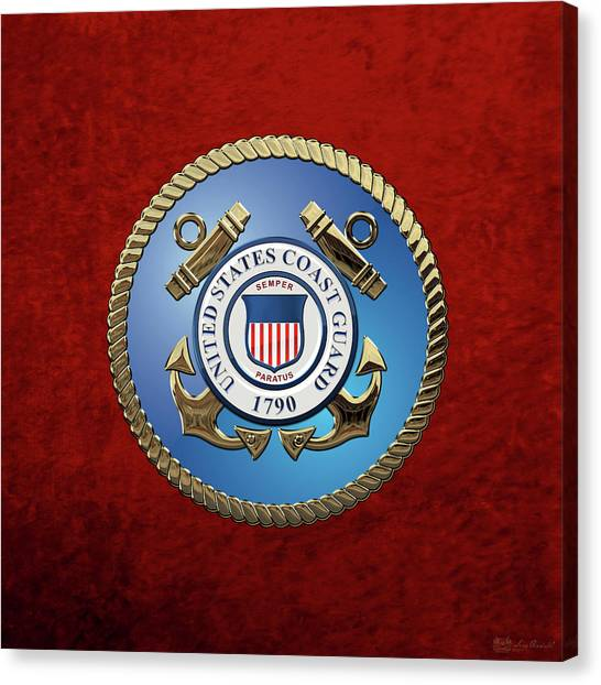 U. S. Coast Guard - U S C G Emblem Canvas Print