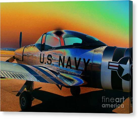 U S Navy  Canvas Print by Diane E Berry