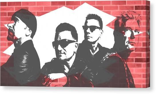 U2 Canvas Print - U2 Graffiti Tribute by Dan Sproul
