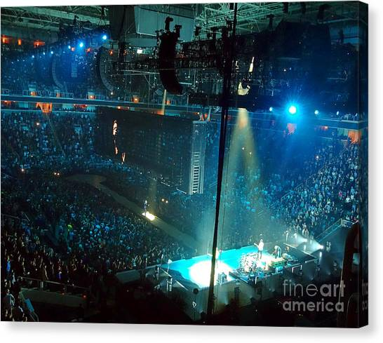 U2 Innocence And Experience Tour 2015 Opening At San Jose. 1 Canvas Print