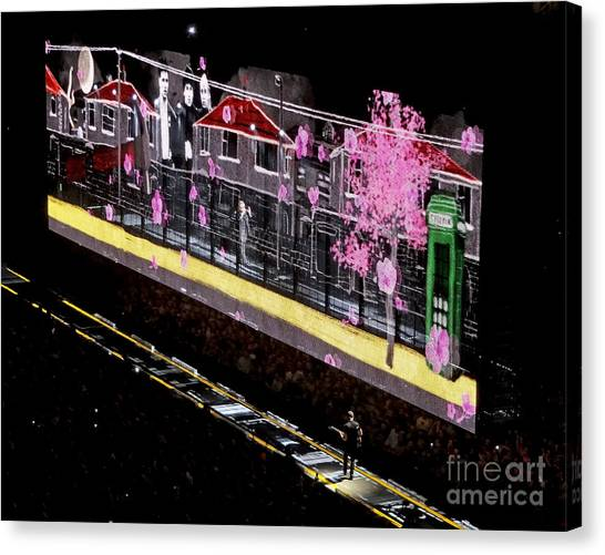 U2 Innocence And Experience Tour 2015 Opening At San Jose. 3 Canvas Print
