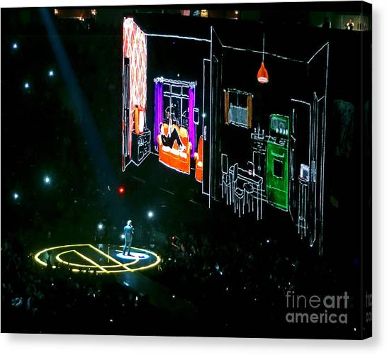 U2 Innocence And Experience Tour 2015 Opening At San Jose. 5 Canvas Print