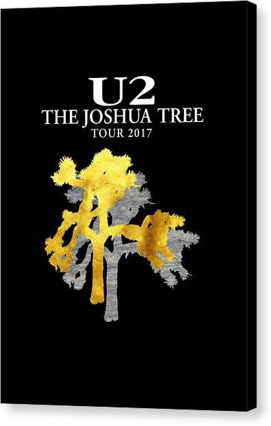 U2 Canvas Print - U2 Joshua Tree by Raisya Irawan