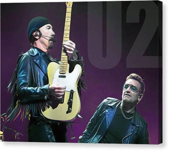 Bono Canvas Print - u2 by Mal Bray