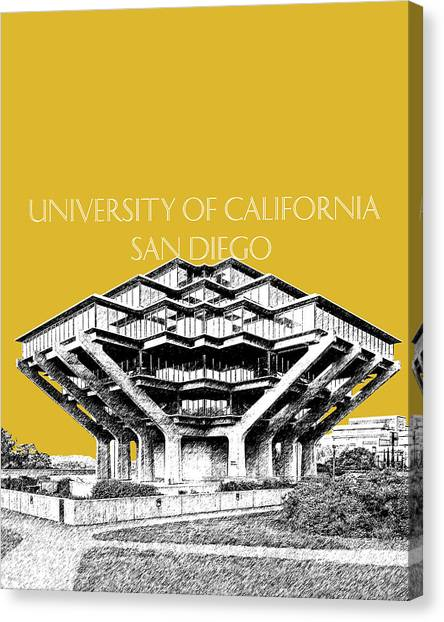 Big West Canvas Print - Uc San Diego Gold by DB Artist