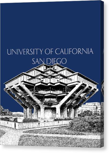 Big West Canvas Print - Uc San Diego Navy Blue by DB Artist