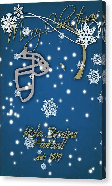Pac 12 Canvas Print - Ucla Bruins Christmas Card by Joe Hamilton