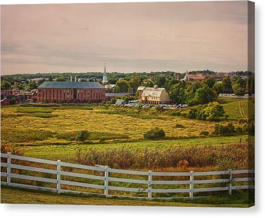 University Of Connecticut Canvas Print - Uconn Horsebarn Hill Skyline #2 by Steve Pfaffle