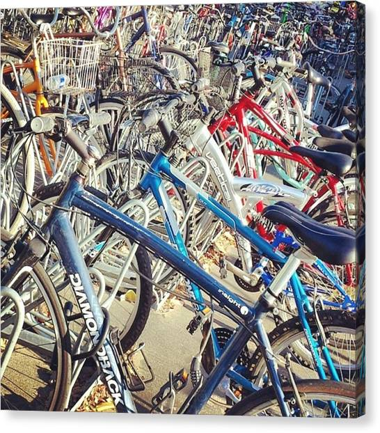 Ucsb Canvas Print - #ucsb: U Can See Bicycles by Matthew Gilbert