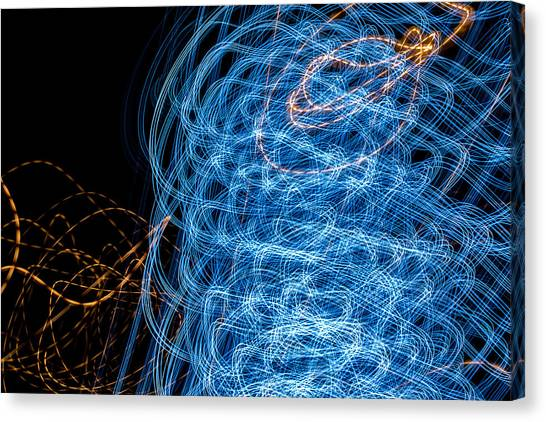 Ufa Neon Abstract Light Painting Sodium #7 Canvas Print
