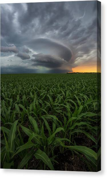 Tornadoes Canvas Print - UFO by Aaron J Groen