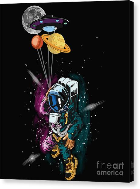 Canvas Print - Ufo Astronaut Spaceshuttle Space Force by Thomas Larch