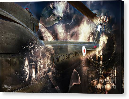Pacific Division Canvas Print - Uh-1h Iroquois Huey 3 by Jacque The Muse Photography