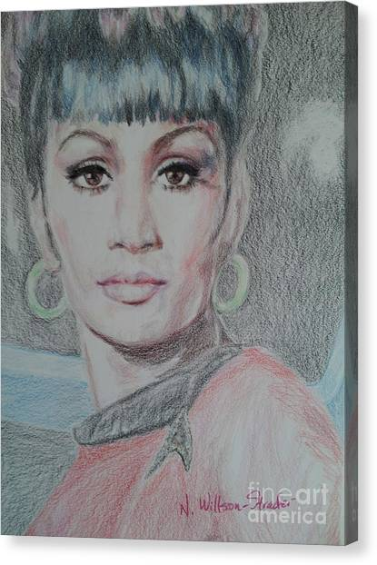 Uhura Canvas Print - Uhura, She Walks In Beauty by N Willson-Strader