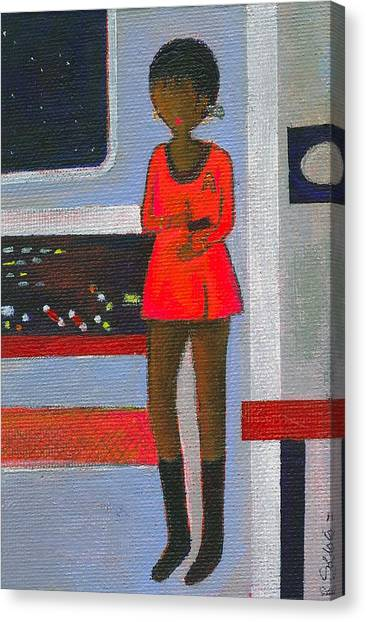 Uhura Canvas Print - Uhura Stars In Space 2 by Ricky Sencion