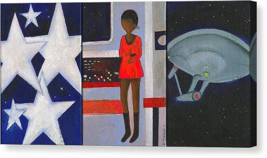 Uhura Canvas Print - Uhura Stars In Space by Ricky Sencion