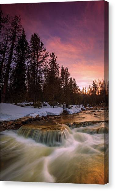 Uinta Canvas Print - Uinta Waterfall by Johnny Adolphson