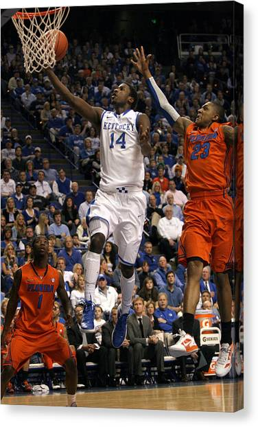 University Of Kentucky Canvas Print - Uk V. Fla - 1 by Mark Boxley