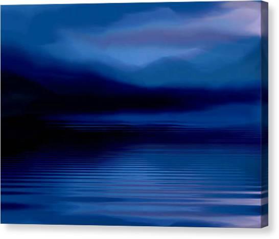 Ullswater At Dusk Canvas Print