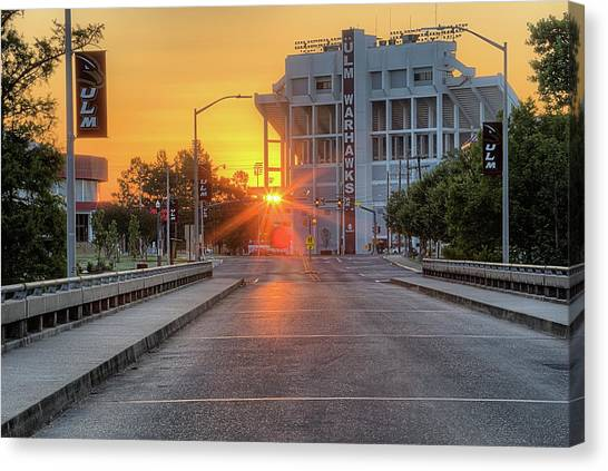 Sun Belt Canvas Print - Ulm Malone Stadium by JC Findley