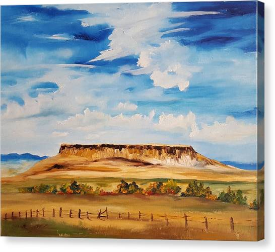 Ulm Montana First People's Buffalo Jump   93 Canvas Print