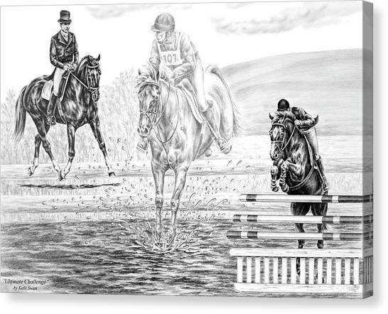 Ultimate Challenge - Eventing Horse Print Canvas Print