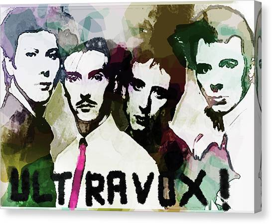 Synthesizers Canvas Print - Ultravox Poster by Enki Art