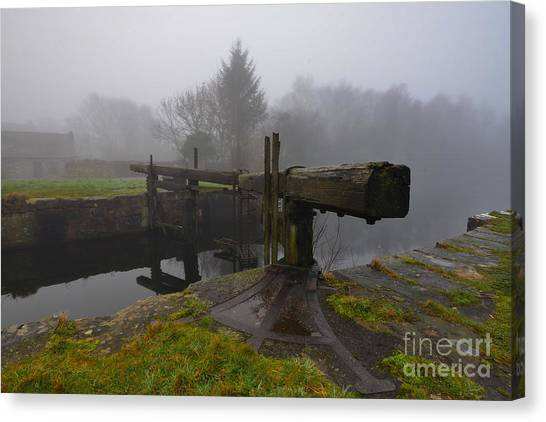 Lock Canvas Print - Ulverston Canal by Smart Aviation