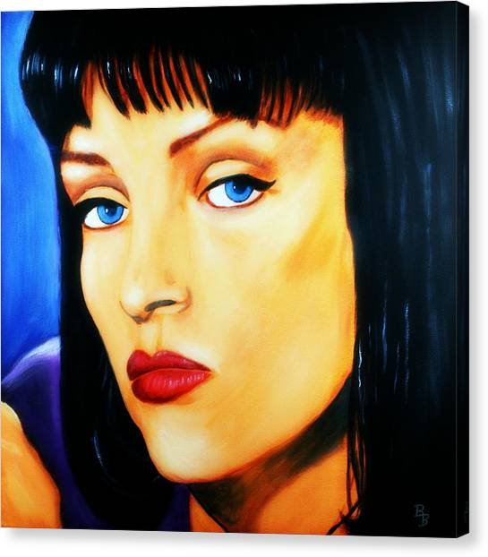 Uma Thurman In Pulp Fiction Canvas Print