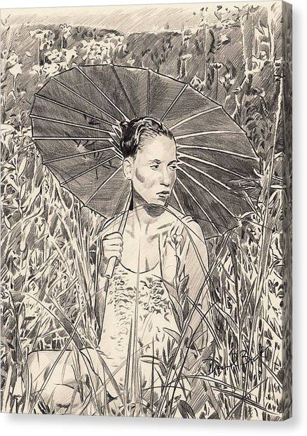 Umbrella Canvas Print by Darryl Barnes