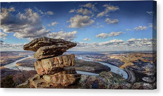 Umbrella Rock Overlooking Moccasin Bend Canvas Print