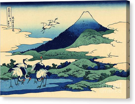 Mount Fuji Canvas Print - Umegawa In Sagami Province, One Of Thirty Six Views Of Mount Fuji by Hokusai