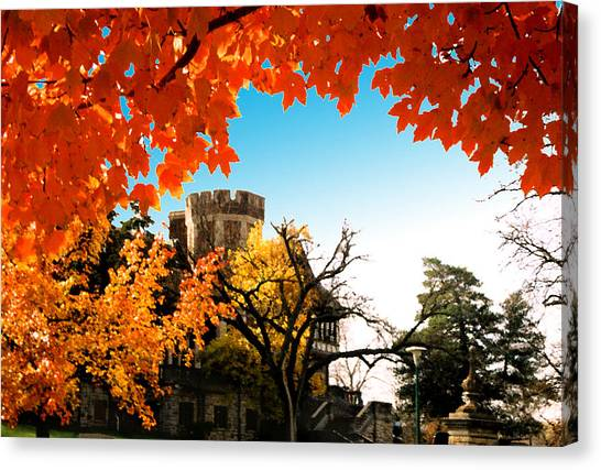 University Of Kansas Canvas Print - Umkc Campus Autumn by Steve Karol
