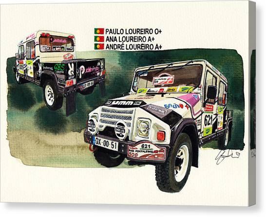 4x4 Canvas Print - Umm Alter Rallye Car by Yoshiharu Miyakawa