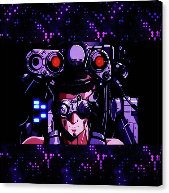 Cyberpunk Canvas Print - Umm... This Needs A Caption. How About: by XPUNKWOLFMANX Jeff Padget