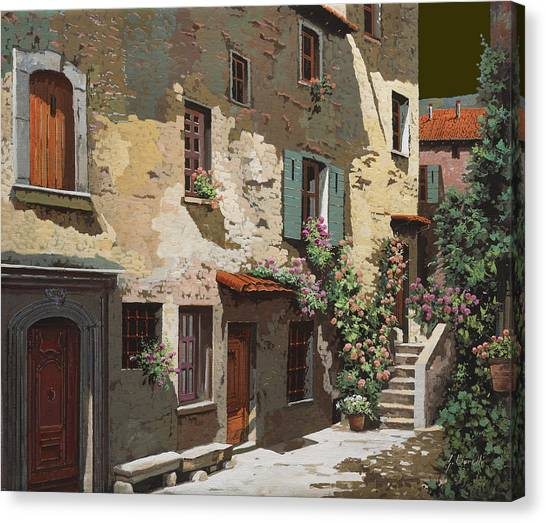 Sunny Day Canvas Print - Un Cielo Improbabile by Guido Borelli