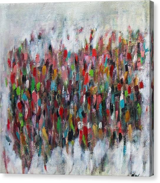Un Gachis De Peinture  Canvas Print by Brooke Wandall