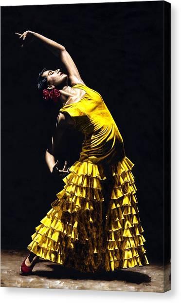 Flamenco Canvas Print - Un Momento Intenso Del Flamenco by Richard Young