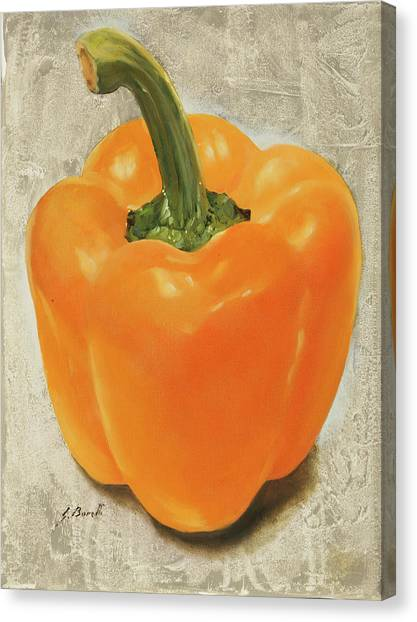 Peppers Canvas Print - Un Peperone by Guido Borelli